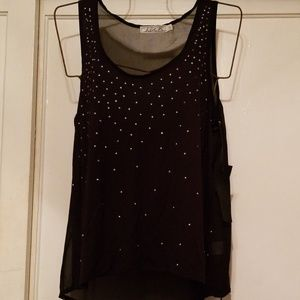 Tank with studs and sheer back